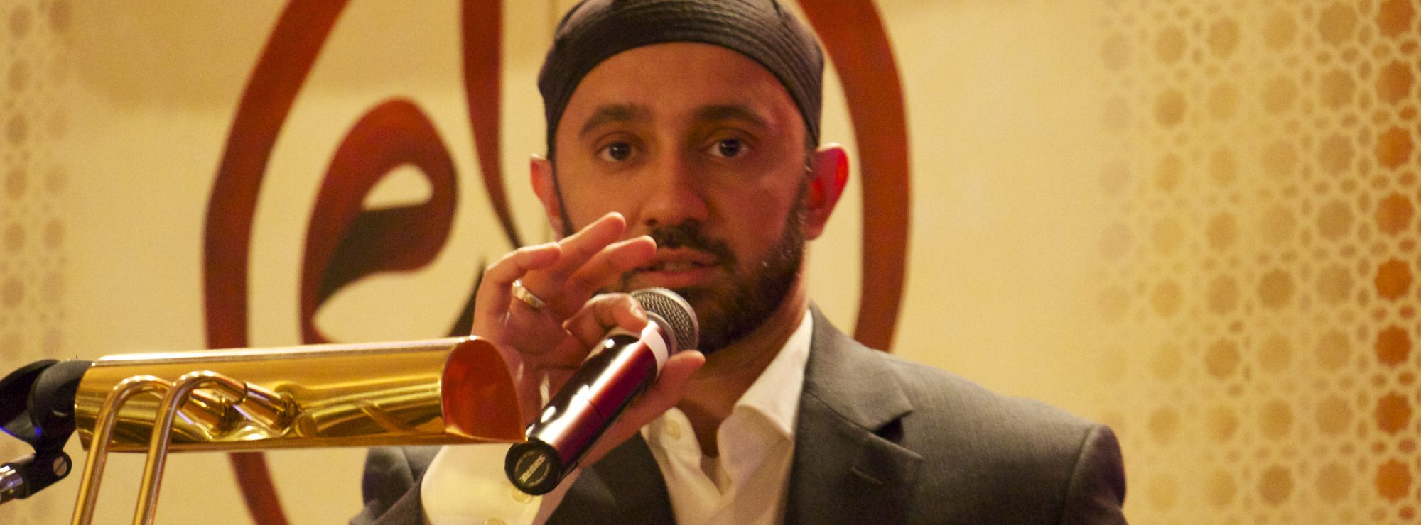 Imam Khalid Latif, Chaplain at NYU, delivers the keynote address at our 12th Anniversary Benefit Dinner held on May 14, 2016