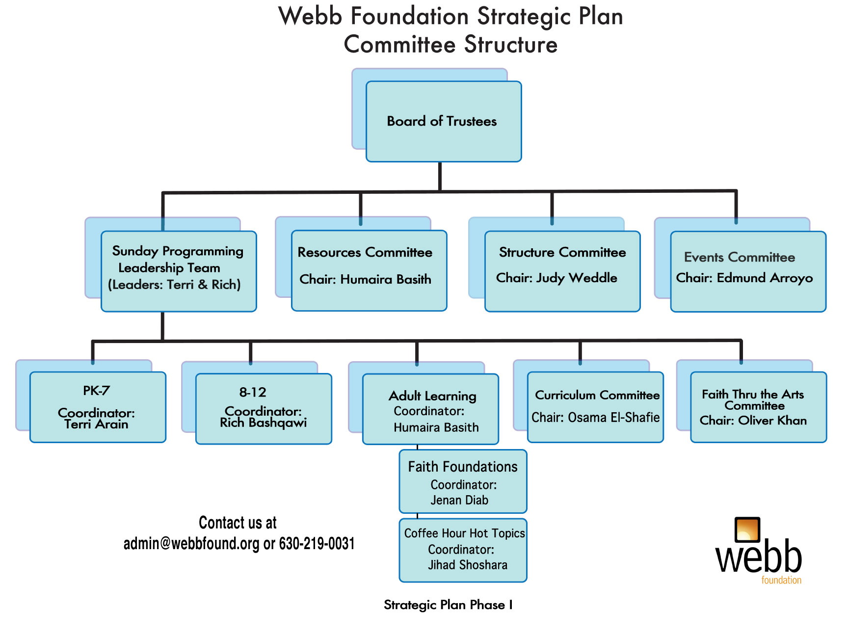 Committee Structure 1 Mohammed Webb Foundation